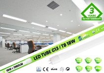 LED spuldze T8 18W / 120cm / 1980lm / 4000K / CRI>80Ra  / VS PREMIUM / Double / IP44 / 01-811