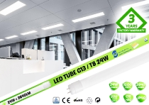 LED spuldze T8 24W / 150cm / 2640lm / 4000K  / CRI>80Ra /  VS PREMIUM  / Single / 01-823 :: LED spuldzes. AKCIJA!