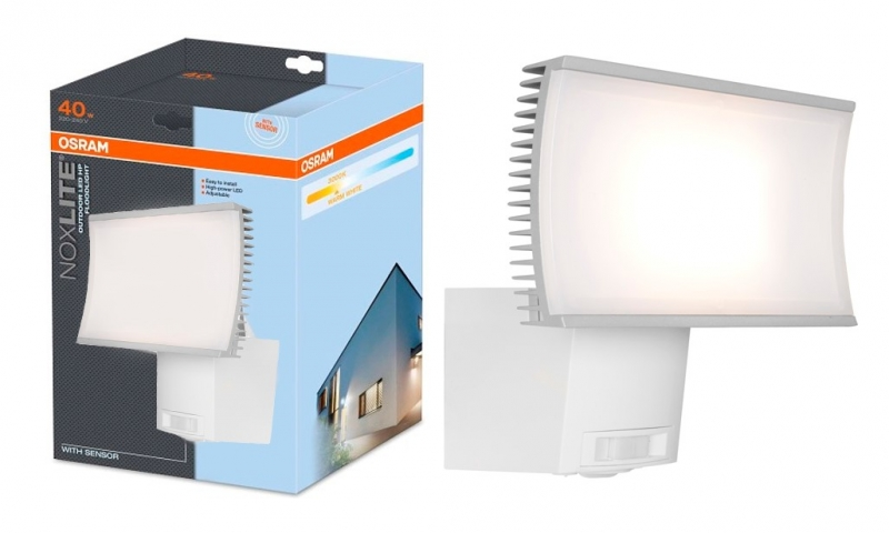 OSRAM LED āra gaismeklis ar sensoru NOXLITE 40W OUTDOOR LED HP / IP65 / 4052899918009