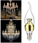 JAUNUMS!!! LED spuldze E14 3,5W VISIONAL EXCLUSIVE EDITION golden (silti balta) 4751027170363 :: E14