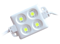 SUPER AKCIJA!!! LED modulis / LED Modules 4 x 2835 SMD 12V balts / Cena derīga pērkot no 200 gab. :: LED Moduļi