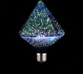 LED 3D Spuldze DIAMOND  E27 (G125) - 3W = 40W /  3000K   / 85-265v /  bulb / Led Light Bulb / 3D Decoration Fireworks Bulb / E27 /  Holiday Lights  ::  E27 Filament