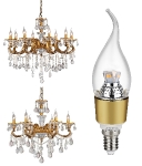 JAUNUMS!!! LED spuldze E14 3,5W VISIONAL EXCLUSIVE EDITION golden (silti balta) :: E14