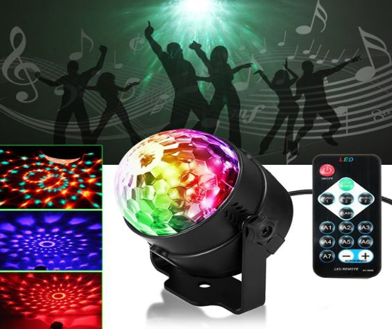 Lāzera projektors telpu apgaismošanai 3W / IP15 / Daudzkrāsains RGB ( 3 krāsas ) / Mini Colorful Kaleidoscope Disco Light for Indoor / M-03-e / Prece ir pieejama veikalā Katlakalna ielā 13