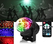 Lāzera projektors telpu apgaismošanai 3W / IP15 / Daudzkrāsains RGB ( 3 krāsas ) / Mini Colorful Kaleidoscope Disco Light for Indoor / M-13-E / Prece ir pieejama veikalā Katlakalna ielā 13 19-094