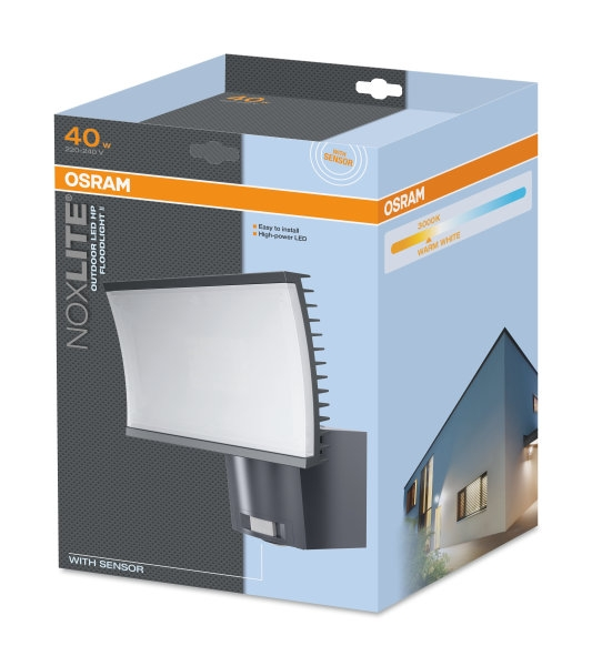 OSRAM LED āra gaismeklis ar sensoru NOXLITE 40W OUTDOOR LED HP / IP65 / 4052899905610