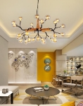 LED Lustra / griestu lampa LED CEILING LIGHT G4 / 2W*27gab / VISIONAL 06-004 :: Post-internet griestu lampas / LED Lustras