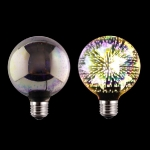 LED 3D Spuldze E27 (G125) - 3W = 40W /  3000K   / 85-265v /  bulb / Led Light Bulb / 3D Decoration Fireworks Bulb / E27 /  Holiday Lights  ::  E27 Filament